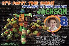 TEENAGE MUTANT NINJA TURTLES Invitation Birthday Party Invite YOU PRINT TMNT