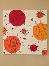 Mid Century Modern Wall Art Atomic 1950s Starburst Retro vintage tiki Rockabilly