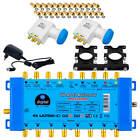 Digital SAT Multischalter UHDMS 9/8 Quattro LNB 3D FULL HD 2 Sat 8 Teilnehmer 4K