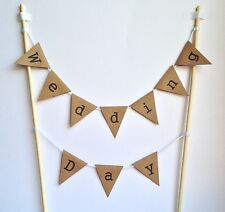WEDDING DAY CAKE BUNTING Topper Rustic Vintage Decoration Manila