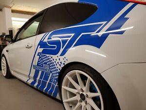 Passenger 1 Side Ford Focus ST Custom Decal Design Car Stickers Garages Design
