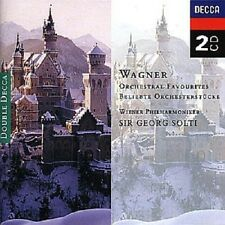 "SIR GEORG SOLTI ""WAGNER: ORCHESTRA FAVOURITES"" 2 CD NEU"