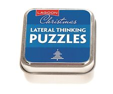 Lagoon Games Christmas Table Top Lateral Thinking Puzzles Tin Novelty Xmas Gift