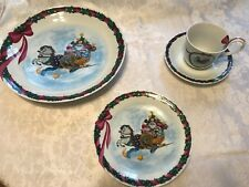 Royal Copenhagen China Jingle Bells Oversize Cup & Saucer, salad plates, platter