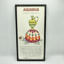Margot Johnson AQUARIUS Zodiac Horoscope Vintage 1968 Pop Art Print (CT)