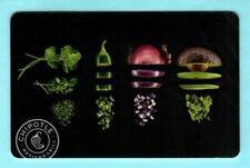 CHIPOTLE Sliced & Diced Vegetables 2015 Gift Card ( $0 )