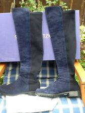 Stuart Weitzman for Russell & Bromley Over The Knee 50/50 navy Boots, UK 6 eu 39