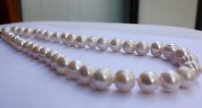 12-14 mm 45cm Natürliche Süßwasser Perlen Schmuck Halskette 925 Silber Collier