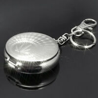 Mini Portable Metal Ashtray Keychain Keyring Ash Holder Travel Pocket