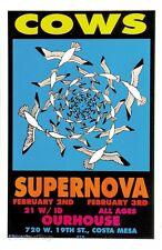 Mg18 Cows Supernova Original Silkscreen Concert Poster M.Getz 1995 Signed Mint