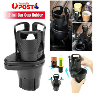 Adjustable 2in1 Car Seat Cup Holder Water Bottle Drink Coffee Cleanse Storage