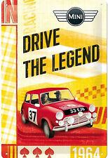 Nostalgic Art Mini Drive The Legend Rallye Monte Carlo Blechschild #