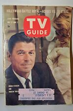 1961 TV Guide Ronald Reagan Cover Graded 8 w/ Label US President Old