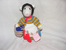NEW HAND KNITTED WIDOW TWANKY FROM ALADDIN ALAN DART'S PANTOMIME MOUSE/MICE