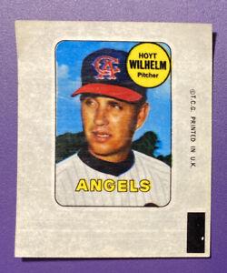 Hoyt Wilhelm - Angels 1969 Topps Baseball Sticker - Near Mint - See Pics