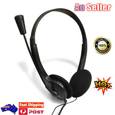 3.5mm Wired Headphones With Mic Headset On the Ear Earphone For Computer PC