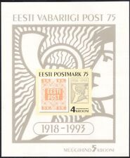 Estonia 1993 First Postage Stamp/Philately/Post/History/S-on-S/UPU m/s (ee1089)