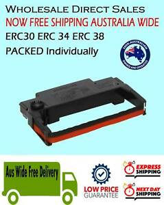 100x TOP GRADE Black&Red Generic Ribbon Cartridge for Epson ERC30 ERC34 ERC38