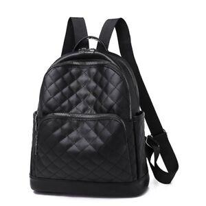 Women Fashion Casual Travel Backpack Girls Black Leather  Mochila Shoulder Bags