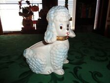 New listing Vintage Napcoware White And Blue Poodle Planter