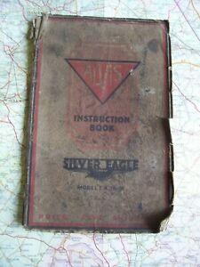 Vtg, Automobilia.  Alvis Silver Eagle, Instruction Book..