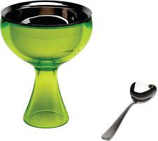 A di Alessi - AMMI01S GB Big love, Ice cream bowl, ice cream spoon - Green Bud
