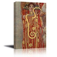 "wall26 - Hygeia by Gustav Klimt - Canvas Wall Art Print - 16"" x 24"""