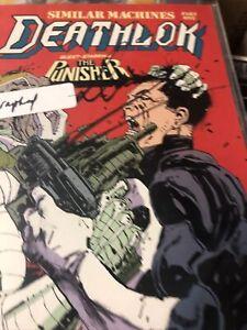 1991 MARVEL COMICS DEATHLOK  # 6 ,THE PUNISHER SIGNED ARTIST, DENYS COWAN, COA