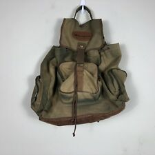 Vintage Champion Backpack Leather Canvas Cinche Bag