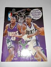 CHICAGO BULLS Program & Bonus Sheet, 70th Win on 4/16/96 Vs Milwaukee Bucks