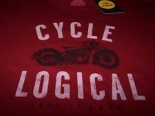 "Life is Good ""CYCLE LOGICAL"" S/S Crusher T-Shirt RICH RED Men's Medium ~ NWT"