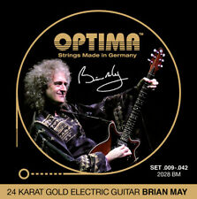 Optima 24K Gold Electric Guitar Strings Brian May gauges 9-42