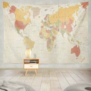 Multicolor Tapestry USA Map Wall Hanging Poster Decor Bedspread Blanket Throw