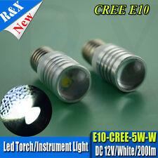 2X New LED Conversion/upgrade bulb Torch Headlamp WHITE E10 5W 200LM CREE DC12V