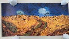 VAN GOGH,'CORN FIELD WITH CROWS ' RARE AUTHENTIC 1990's ART PRINT
