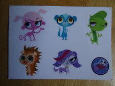 Littlest Pet Shop Aufkleber Sticker mit 5 Figuren NEU Postkartengrösse