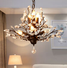 Modern Crystal Chandeliers Pendant Lighting Metal Hanging lamp Ceiling Fixtures