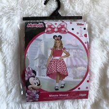 Minnie Mouse Dress Up Costume Disney Size Medium Ages 7 8 Pink Polkadot NEW