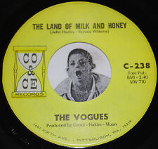 """THE VOGUES 45~Land of Milk and Honey/ True Lovers~CO & CE Clean NOS Vinyl 7"""""""