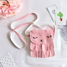1x Cute Baby Girls tassel Purse handbag Children Kids Cross-body shoulder bag GT