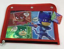 Pj Masks  Pencil Case Red 3 Hole Binder NEW