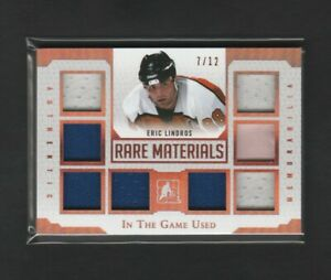 2016-17 Leaf In The Game Used Rare Materials Eric Lindros 11/12 Jersey Glove