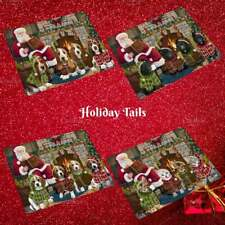 Christmas Cozy Fire Holiday Tails Dog Cat Pet Photo Refrigerator Magnet