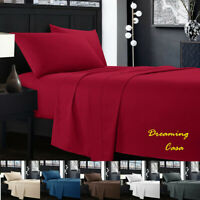 Egyptian Comfort 1800 Count 4 Piece Deep Pocket Bed Sheet Set Hotel Luxury G4