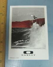 OAKLEY 2009 BRUCE IRONS SURF dealer promo display card New Old Stock Flawless