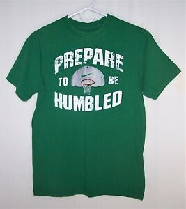 Nike Boys Size M (10-12) Green Prepare To Be Humbled Graphic Basketball Tee