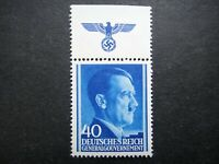 Germany Nazi 1941 1942 1944 Stamp MINT Adolf Hitler Swastika Eagle Generalgouver