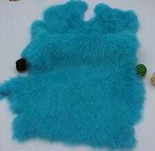 2pcs Blue Real Rabbit Fur Pelt Craft 100% Genuine Rabbit Fur Skin For Pets Bags