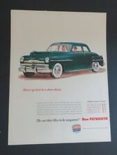 Original 1940 Print Ad PLYMOUTH Car Likes to Be compared Quality Chart Art