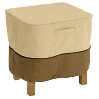 Large Weatherproof Classic Accessories Ottoman/Side Table Cover Protect, Square